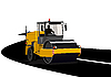 Vector clipart: Asphalting of roads