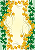 Vector clipart: frame of autumn and sommer leaves
