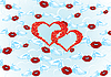 Vector clipart: Background of kisses