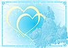 Vector clipart: Blue wedding background