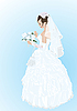 Vector clipart: Bride