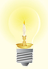 Vector clipart: Bulb and wax candle