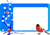 Vector clipart: Business card with bullfinches