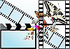 Векторный клипарт: Бабочка на фоне фильма