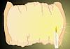 Векторный клипарт: Свеча и пергамент
