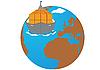 Vector clipart: Cargo transportation by sea