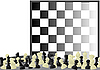 Vector clipart: Chess and chess board