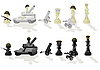 Chess paramilitary figures | Stock Vector Graphics