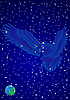 Vector clipart: Constellation Eagle