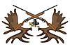 Векторный клипарт: Боеприпасы, оружие и рога