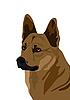 Векторный клипарт: Собака