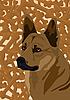 Векторный клипарт: Собака и кость