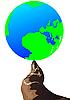 Векторный клипарт: Земля и печать