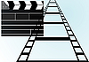 Vector clipart: Film and slapstick film
