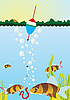Vector clipart: Fishing on the lake