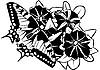 Векторный клипарт: Бабочка на цветы