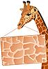 Векторный клипарт: Жираф с рекламным щитом