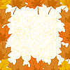 Vector clipart: Golden Autumn Frame