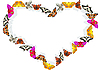 Vector clipart: Heart of butterflies