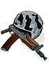 Vector clipart: Helmet and gun