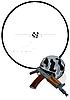 Векторный клипарт: Шлем, ружье и целевые