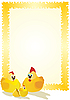 Vector clipart: Hen, rooster and chicken