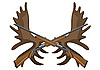 Vector clipart: Hunting rifles and antlers of elk