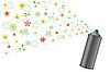 Векторный клипарт: Аэрозоль и цветы