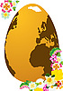 Векторный клипарт: Пасхальное яйцо и цветы
