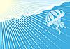 Векторный клипарт: Медузы в море