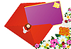 Векторный клипарт: Поздравительное письмо