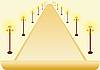 Векторный клипарт: Свет полюсов и лист бумаги