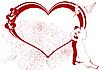Векторный клипарт: Красная свадебная рамка