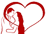 Vector clipart: Lovers