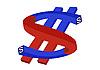 Векторный клипарт: Магнит - доллар