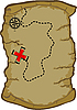 Vector clipart: Map of Treasure