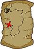 Векторный клипарт: Карта сокровищ