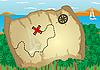 Векторный клипарт: Карта острова сокровищ