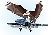 Vector clipart: Military aircraft