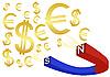 Vector clipart: Money magnet
