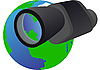 Vector clipart: Monocular and Planet Earth
