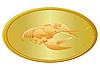 Vector clipart: Golden cancer
