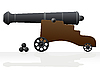 Vector clipart: Old cannon and cannonballs