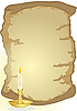 Vector clipart: Old parchment and candle