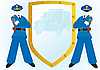 Vector clipart: Police