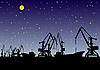 Vector clipart: Port at night