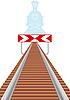 Vector clipart: Railway siding