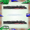 Vector clipart: Railway transport