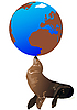 Vector clipart: Seal and the globe