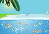Vektor Cliparts: Meereslandschaft